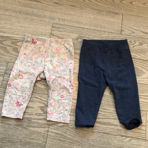 Gap Baby leggings x2 6-12 months
